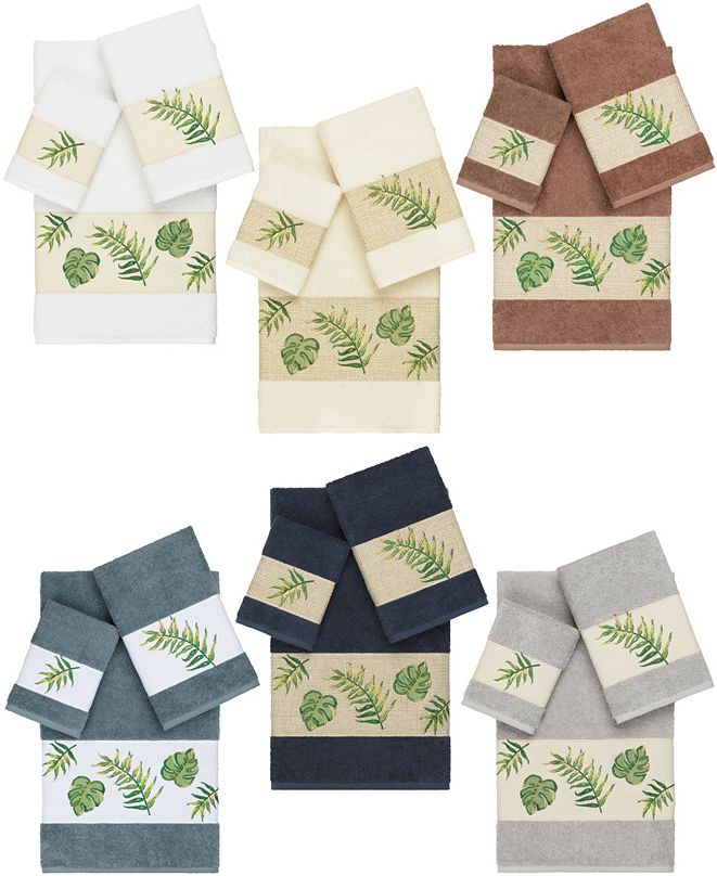 Linum Home Zoe Embroidered Turkish Cotton Bath Towels