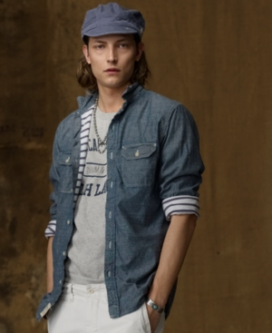Denim & Supply Ralph Lauren Shirt, Chambray Wash