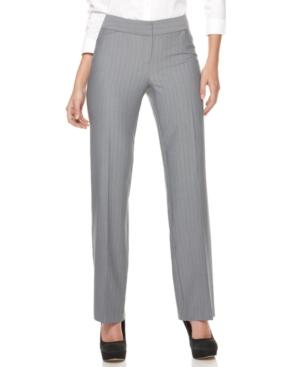 Alfani Pants, Straight Leg Striped Trousers
