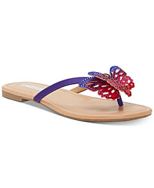 INC Women's Marsha Butterfly Flip-Flop Sandals, Created for Macy's