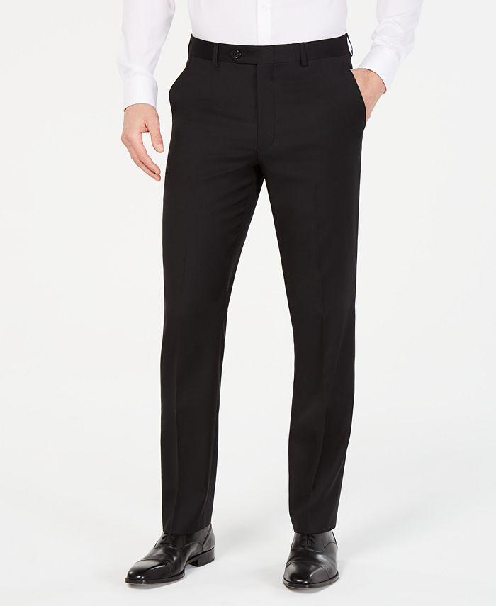 Lauren Ralph Lauren - Men's Classic-Fit UltraFlex Stretch Black Suit Pants