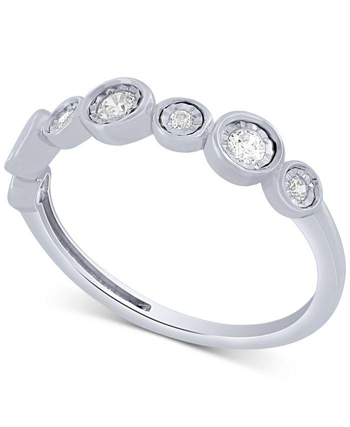 Macy's - Diamond Fashion Band (1/5 ct. t.w.) in 10k White Gold