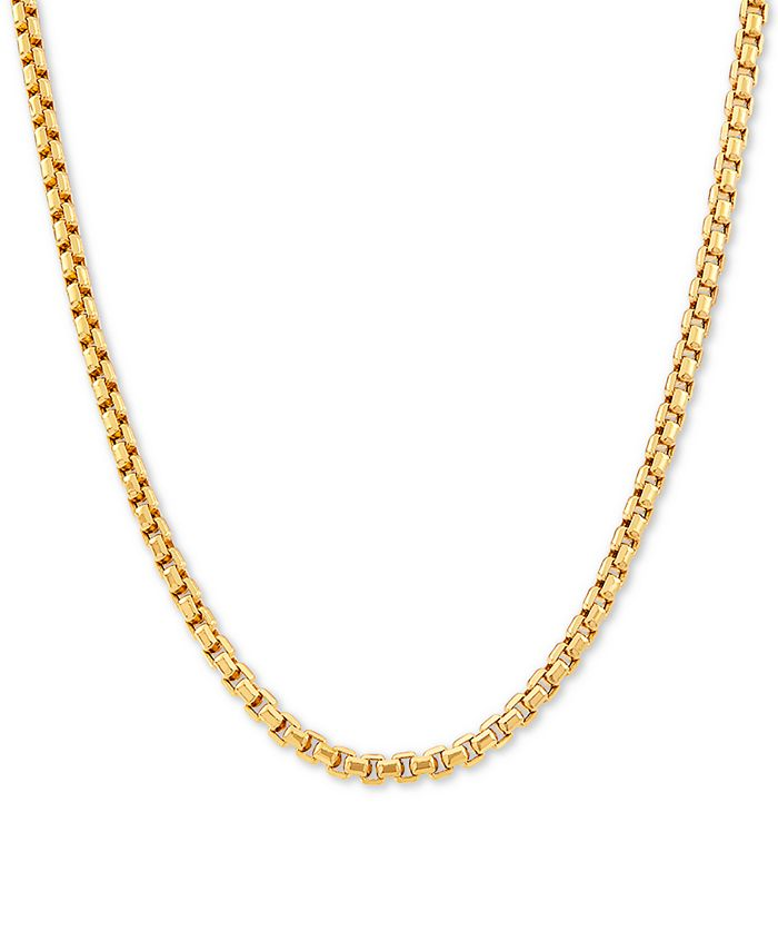 """Italian Gold - Box Link 22"""" Chain Necklace in 14k Gold"""