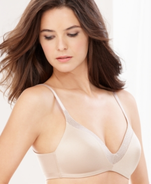 Warner's Back to Smooth Wireless Contour Bra 1275 plus size,  plus size fashion plus size appare