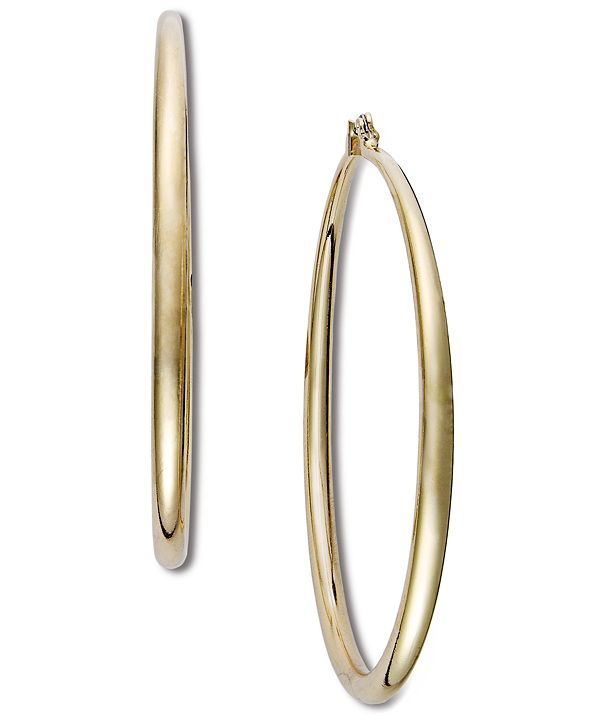 "INC International Concepts INC Extra Large 2.5"" Gold-Tone Hoop Earrings"
