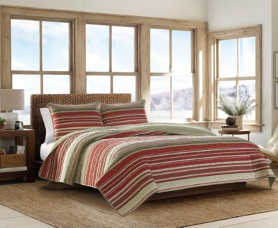 Yakima Valley Red King Quilt Set