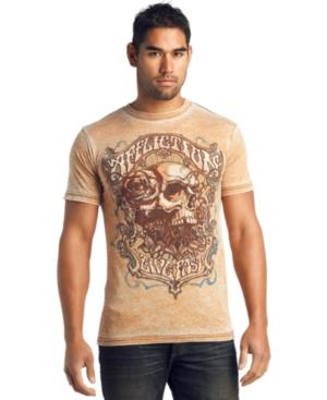 Affliction T Shirt, Trucking Skull T Shirt