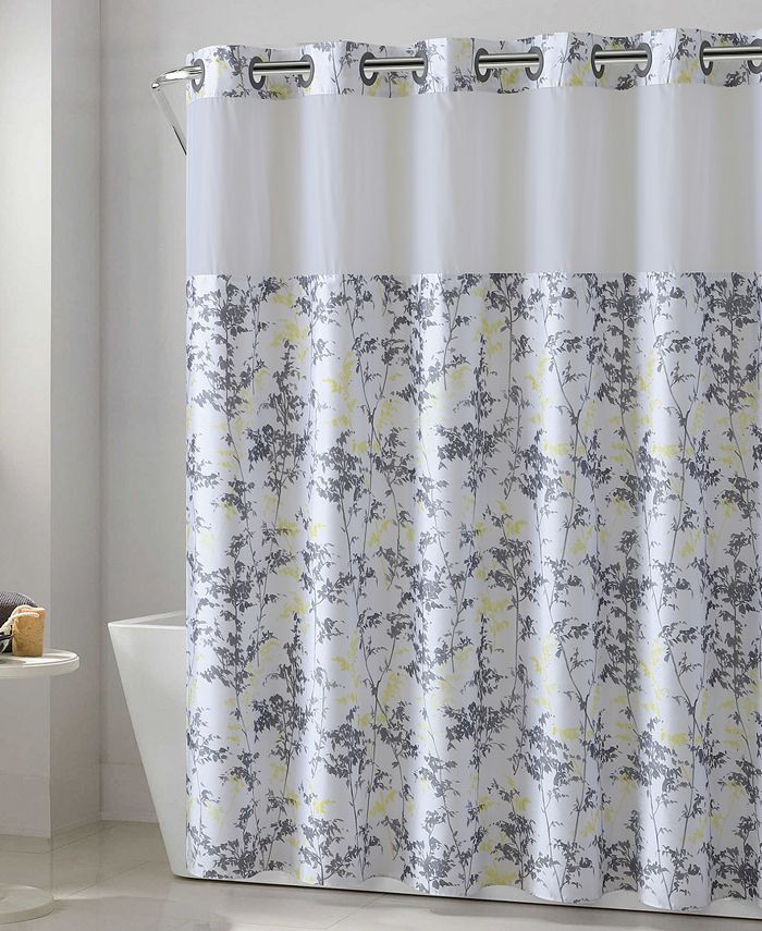 Hookless - Floral Leaves 3-in-1 Shower Curtain