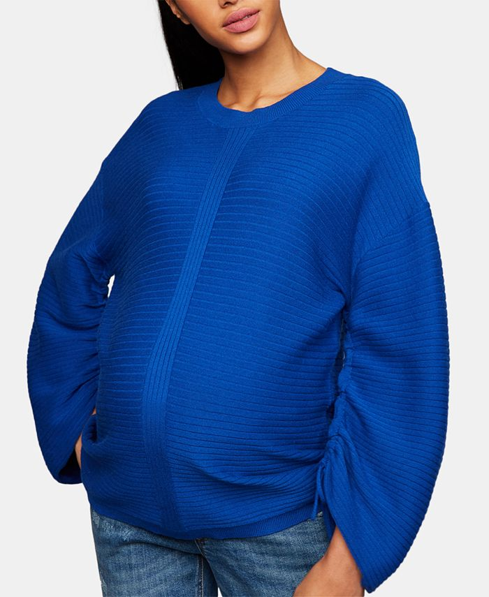 A Pea in the Pod - Maternity Ruched-Sleeve Sweater