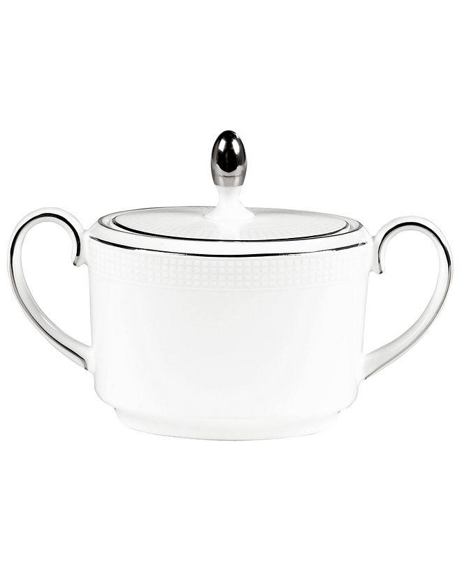 Vera Wang Wedgwood Dinnerware, Blanc sur Blanc Sugar Bowl
