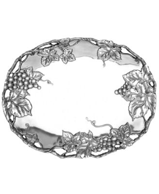 Arthur Court Grape Oval Tray, 18 1/2""