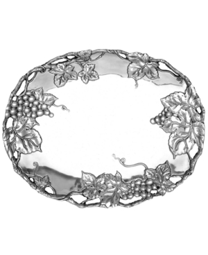 "Arthur Court ""Grape"" Oval Tray, 18 1/2"""
