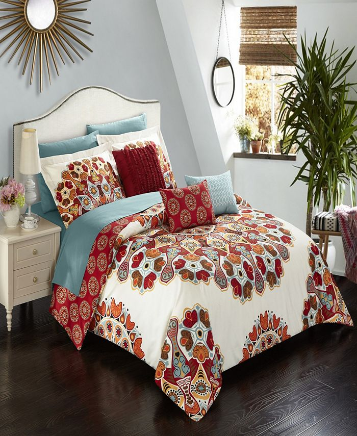 Chic Home - Aberdeen 8-Pc. Twin Bed In a Bag Comforter Set