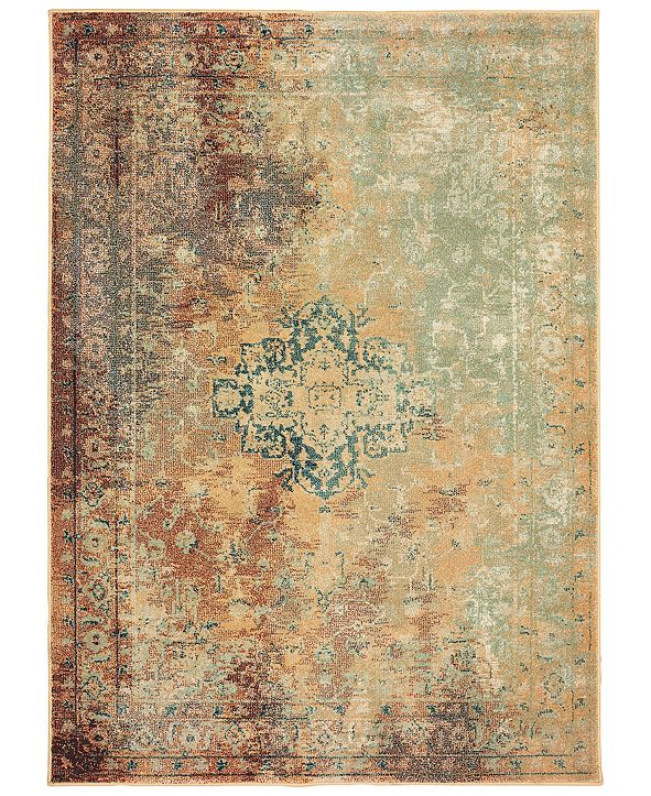 "Oriental Weavers Dawson 8324A Rust/Gold 3'10"" x 5'5"" Area Rug"