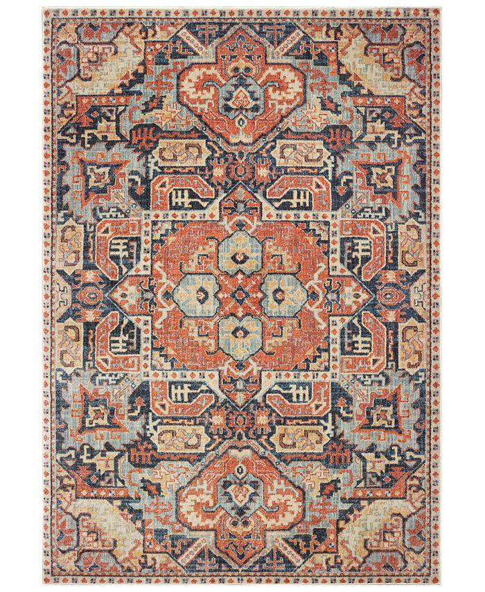 "Oriental Weavers - Pandora 49S Blue/Orange 5'3"" x 7'6"" Area Rug"