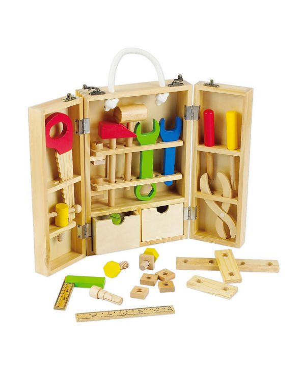 Group Sales Wood Carpenter's Tool Box with Tools