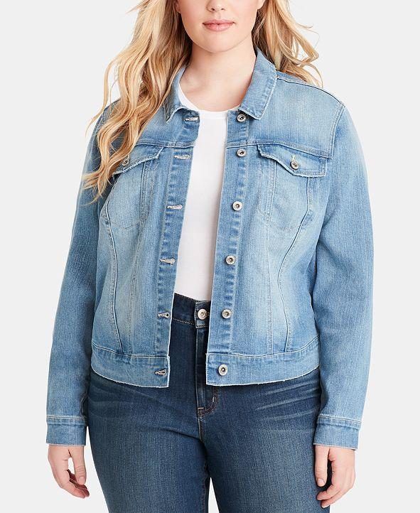 Jessica Simpson Trendy Plus Size Cotton Denim Jacket