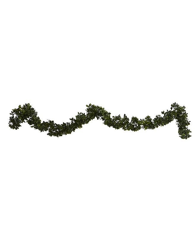 Nearly Natural 6' Boxwood Artificial Garland, Set of 4