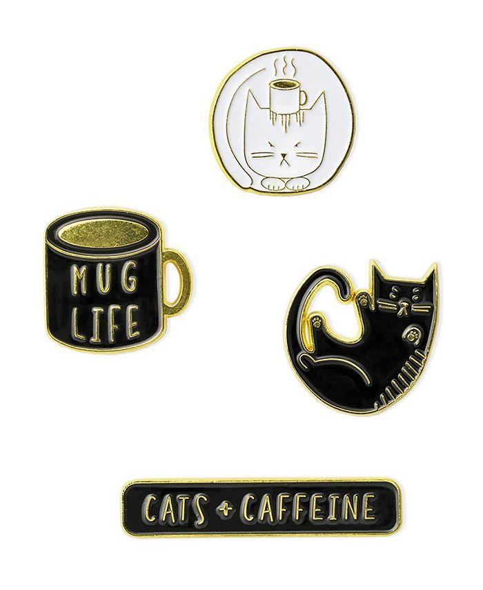 Mara-Mi - Cats and Caffeine Enamel Pin Set