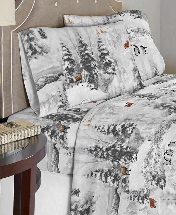 Celeste Home Luxury Weight Cotton Flannel Sheet Set Queen