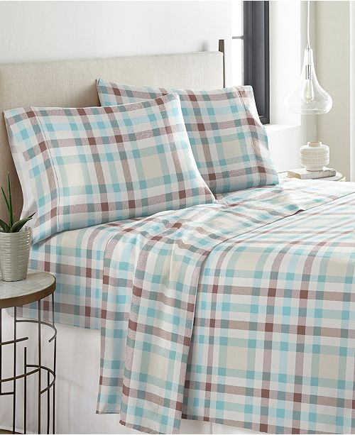 Pointehaven Heavy Weight Cotton Flannel Sheet Set Cal King Reviews Sheets Pillowcases Bed Bath Macy S