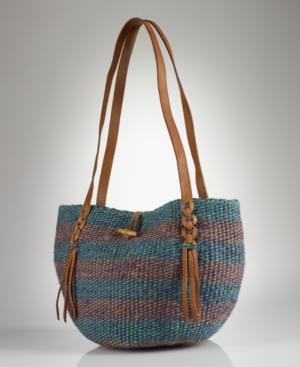 Denim & Supply Ralph Lauren Handbag, Woven Jute Tote Bag