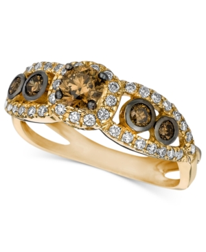 Le Vian 14k Gold Chocolate and White Diamond Ring (7/8 ct. t.w.)