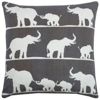 "18"" x 18"" Elephant Pillow Cover"