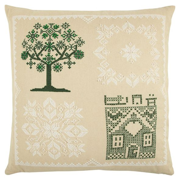 "Rizzy Home 20"" x 20"" Tree Pillow Cover"