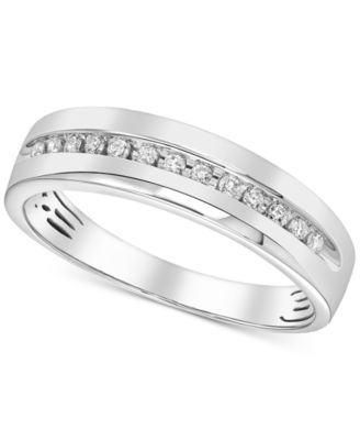 Men's Diamond Channel-Set Band (1/6 ct. t.w.) in 14k White Gold or Yellow Gold