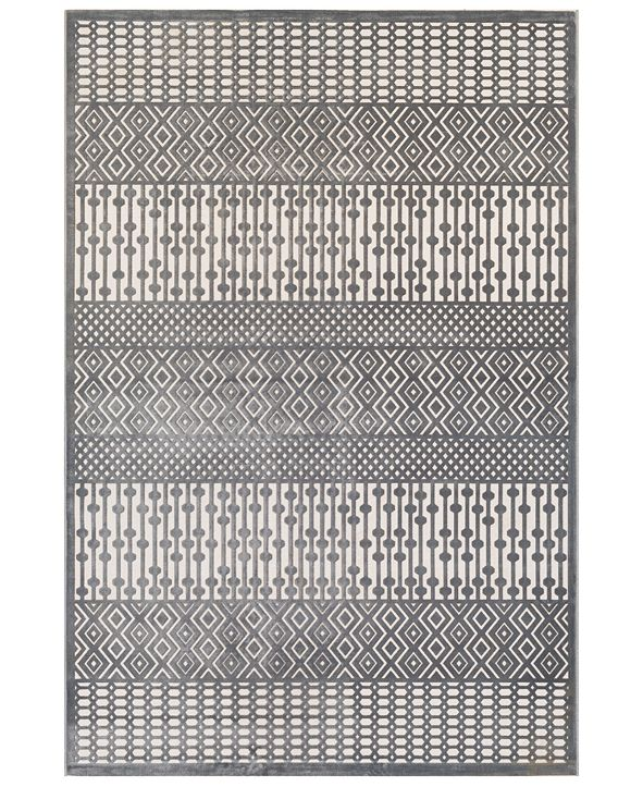 "Surya Aesop ASP-2304 Medium Gray 5'2"" x 7'3"" Area Rug"