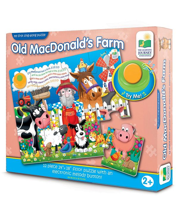 The Learning Journey My First Sing-Along Puzzle - Old MacDonald's Farm- 12 Pieces