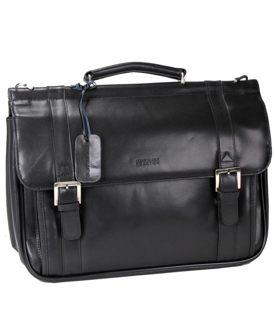 Kenneth Cole Reaction 6 Double Gusset Dowel Rod Portfolio Bag   Wallets & Accessories   Men