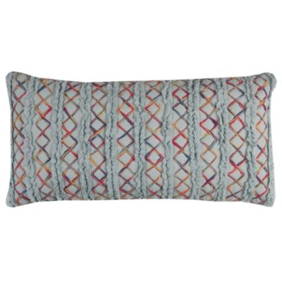 "14"" x 26"" Textured Stripe Down Filled Pillow"