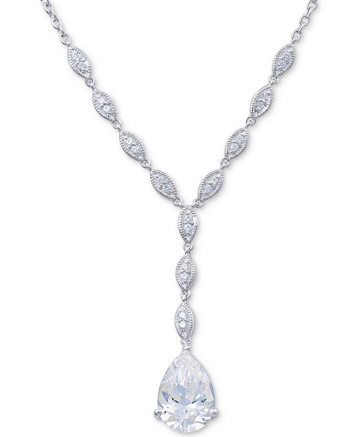 """Arabella - Swarovski Zirconia 18"""" Lariat Necklace in Sterling Silver"""