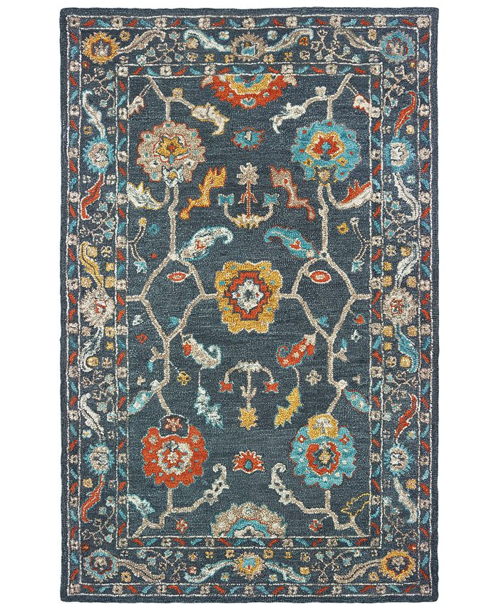 Oriental Weavers - Zahra 75501 Blue/Gold 5' x 8' Area Rug