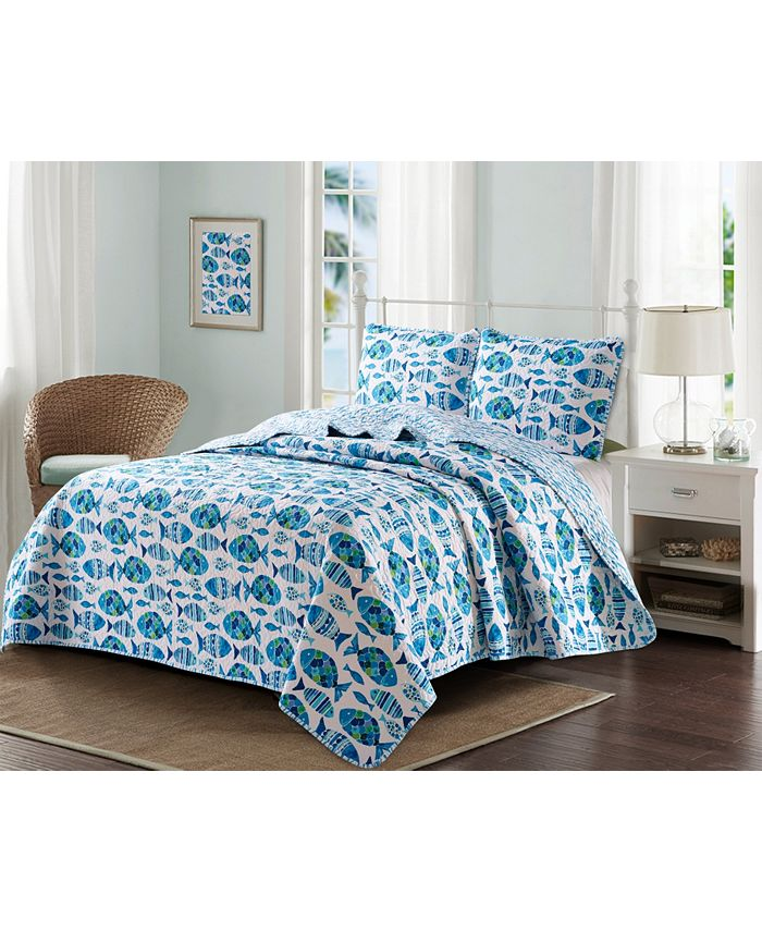 Harper Lane - Welcome Cove 3 Piece Quilt Set King