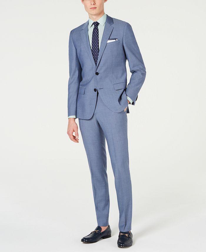 HUGO - Men's Slim-Fit Pin-Dot Suit Separates