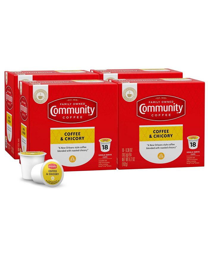 Community Coffee - CS-4: 18 CT SS CUPS COFF CHRY