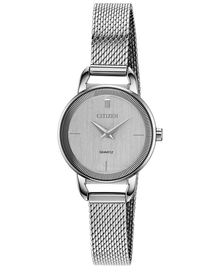 Citizen - Women's Quartz Stainless Steel Mesh Bracelet Watch 26mm