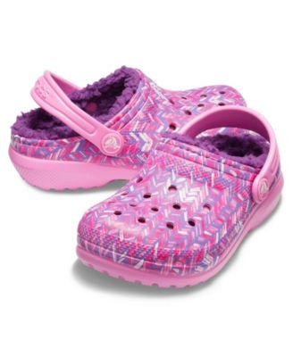Little Girls Classic Lined Graphic Clog