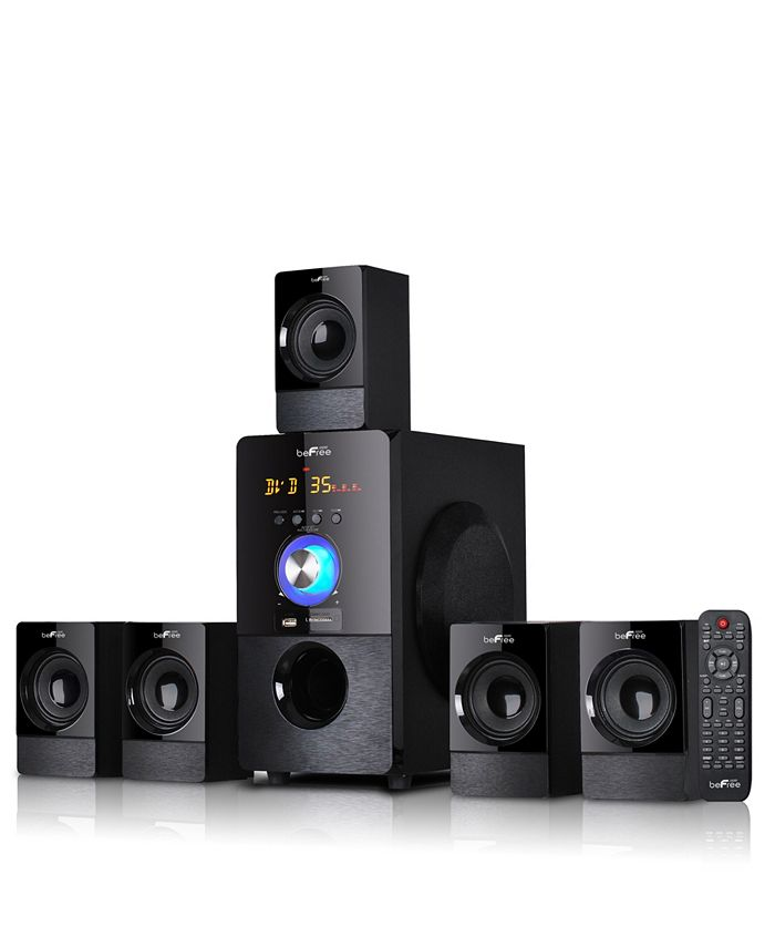 BeFreeSound - 5.1 Channel Surround Sound Bluetooth Speaker System