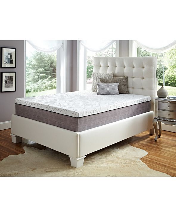 "Future Foam 12"" Comfort Loft Gray Rose with Ebonite Twin Memory Foam and Comfort Choice, Medium Firmness"
