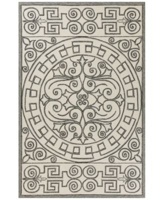 Harbor Irongate 4246 Ivory/Grey 2' x 3' Indoor/Outdoor Area Rug