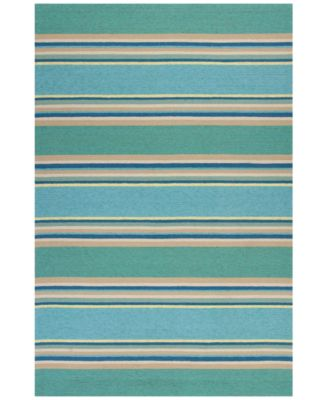 Harbor Stripes 4230 Ocean 5' x 7'6