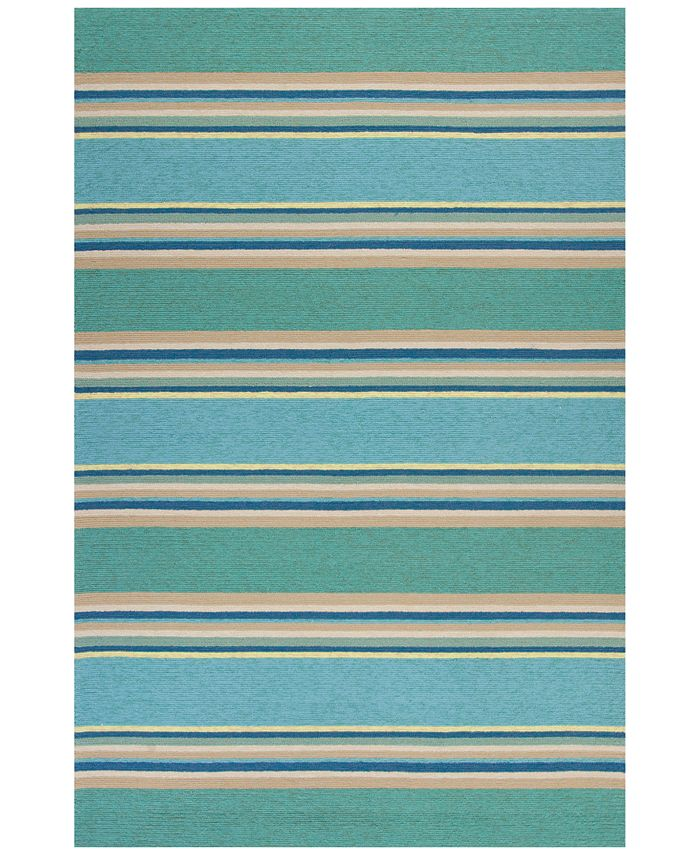 "Kas - Harbor Stripes 4230 Ocean 5' x 7'6"" Indoor/Outdoor Area Rug"