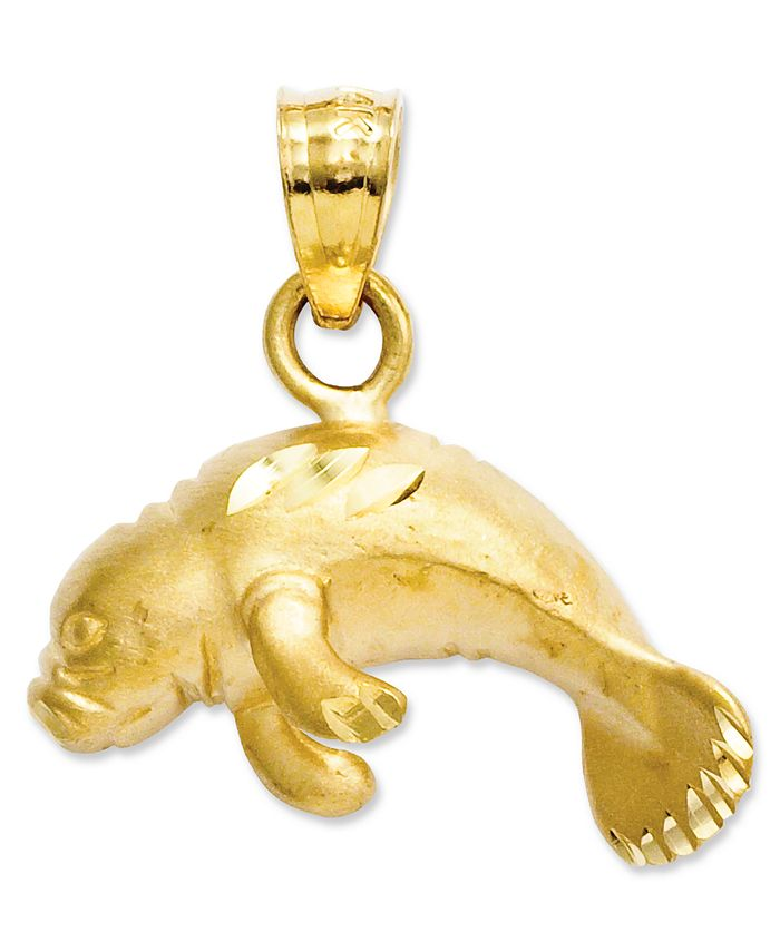 Macy's - 14k Gold Charm, Manatee Charm