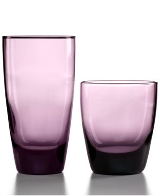 CLOSEOUT! The Cellar Glassware, Classic Purple 16 Piece Set