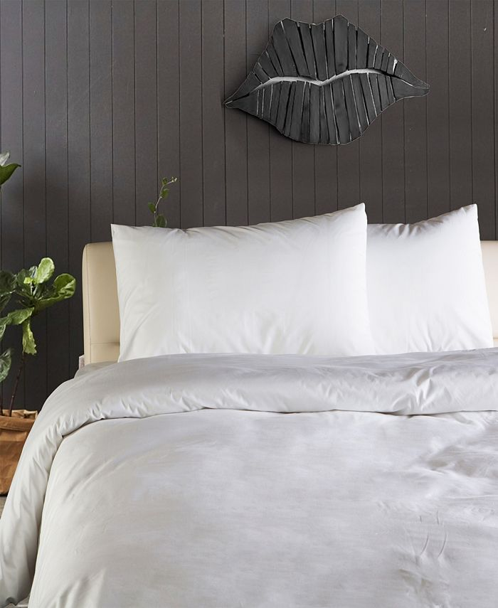 Enchante Home - Plain 3 pieces Turkish Cotton Duvet Cover Set