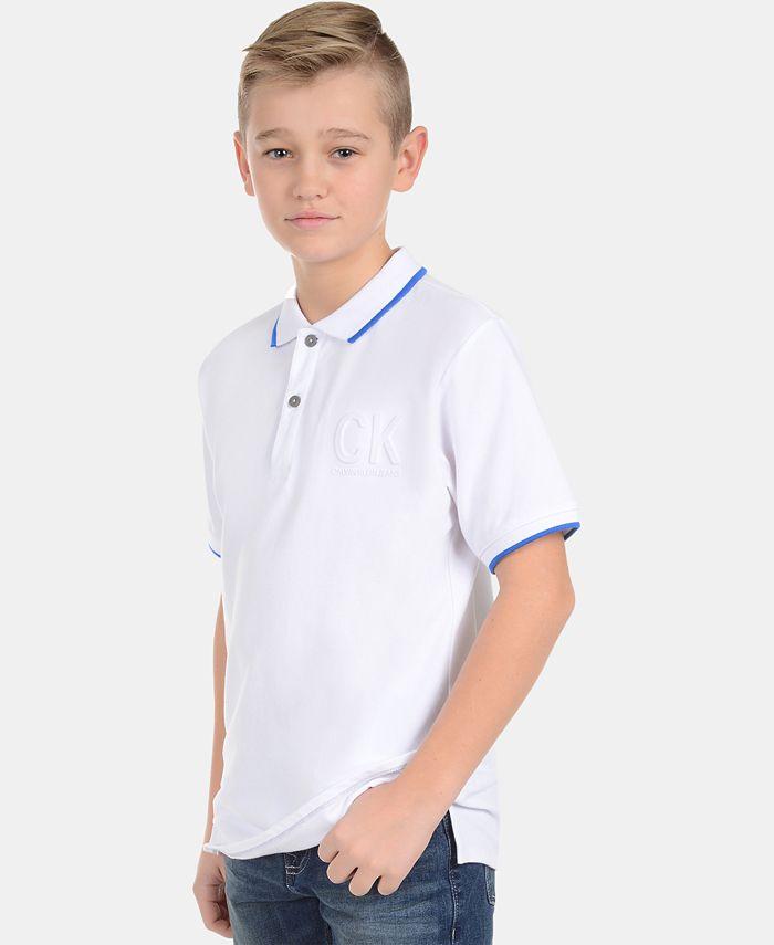 Calvin Klein - Big Boys Embossed Polo